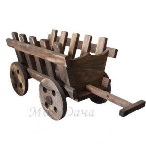 Тележка деревянная