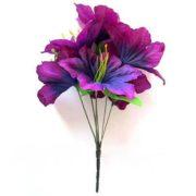 Искусственный цветок Лилия фиолетовая