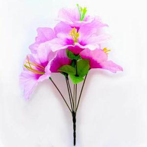 Искусственный цветок Лилия нежно-сиреневая