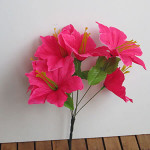 Искусственный цветок Лилия сиренево-розовая