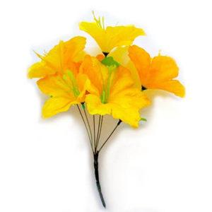 Искусственный цветок Лилия желтая