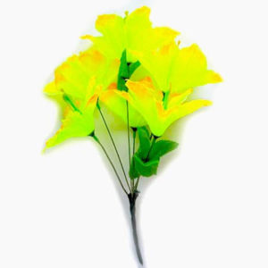 Искусственный цветок Лилия лимонно-желтая