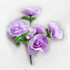 Искусственный цветок Роза нежно-сиреневая