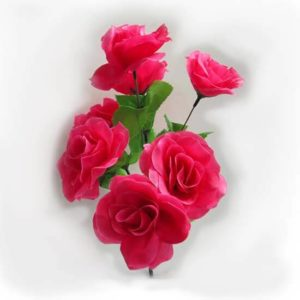 Искусственный цветок Роза сиренево-розовая