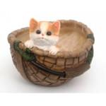 котик в корзинке