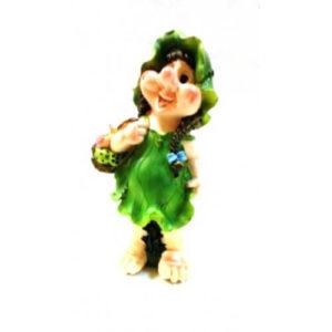 Садовая фигура Гном Девочка с корзинкой