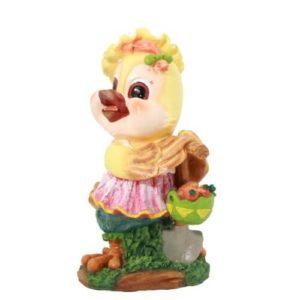 Садовая фигура Курочка с корзинкой
