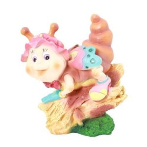 Садовая фигура Улитка на бревнышке