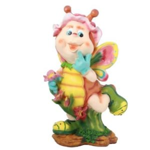 Садовая фигура Улитка с цветочком
