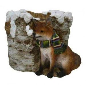 Кашпо Новогоднее с лисичкой