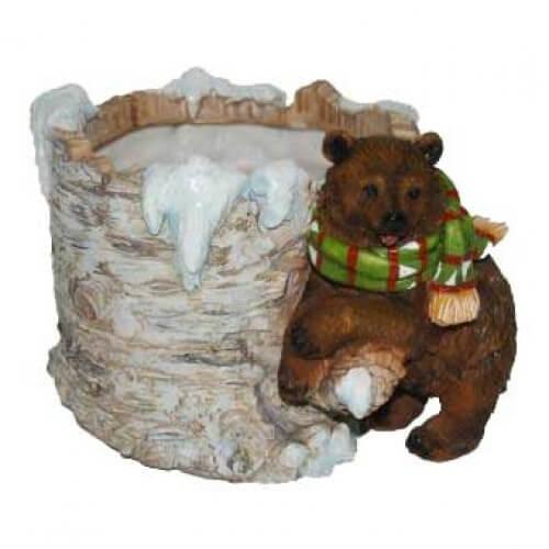 Кашпо Новогоднее с медвежонком
