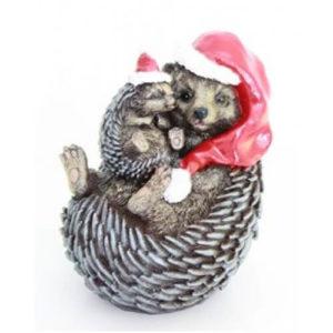 Садовая фигура Новогодняя семейка ёжиков
