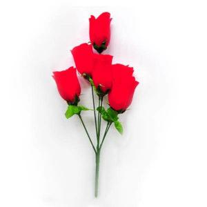 Искусственный цветок Бутон розы красный