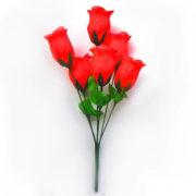 Искусственный цветок Бутон розы насыщенно-розовый