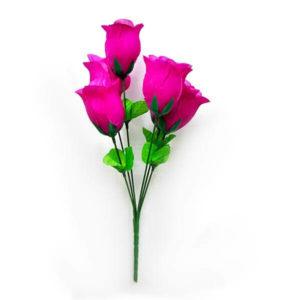 Искусственный цветок Бутон розы насыщенно-фиолетовый