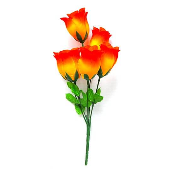 Искусственный цветок Бутон розы желто-оранжевый