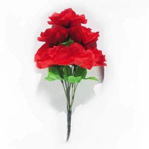 Искусственный цветок Роза красная