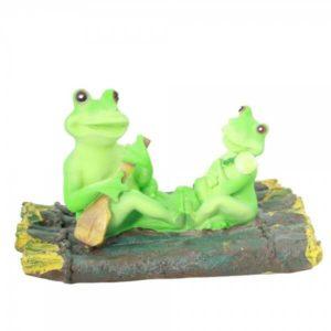 Садовая фигура для пруда Две лягушки–две подружки