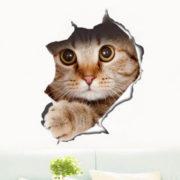 Наклейка на стену «Котик»
