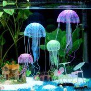 силиконовая медуза для аквариума