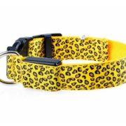 светящийся ошейник для собаки желтый