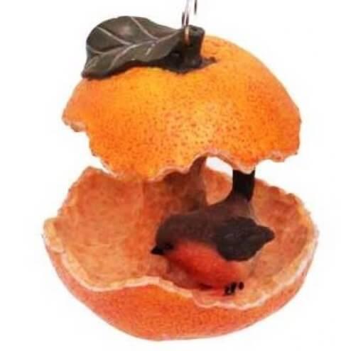 Кормушка Апельсин с птичкой