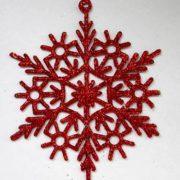 Снежинка красная