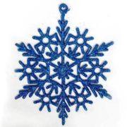 Снежинка синяя