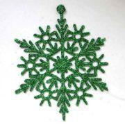 Снежинка зелёная
