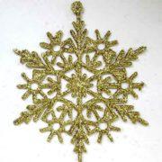 Снежинка золотая