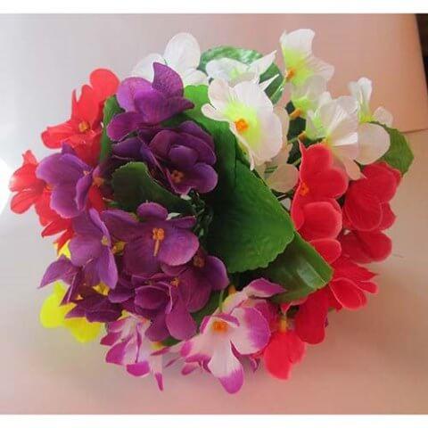 Фиалки искусственные цветы
