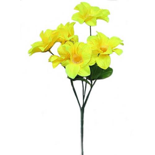 Искусственный цветок Георгина Желтая