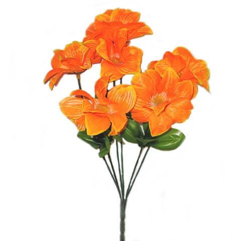 Искусственный цветок Георгина оранжевая