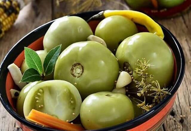 Замороженные зеленые помидоры что с ними делать