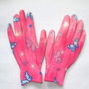 Перчатки розовые с бабочками