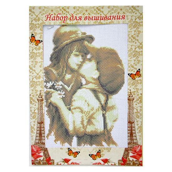 Набор для вышивания крестом и бисером Первый поцелуй